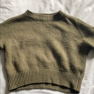 COPY - army green wool sweater